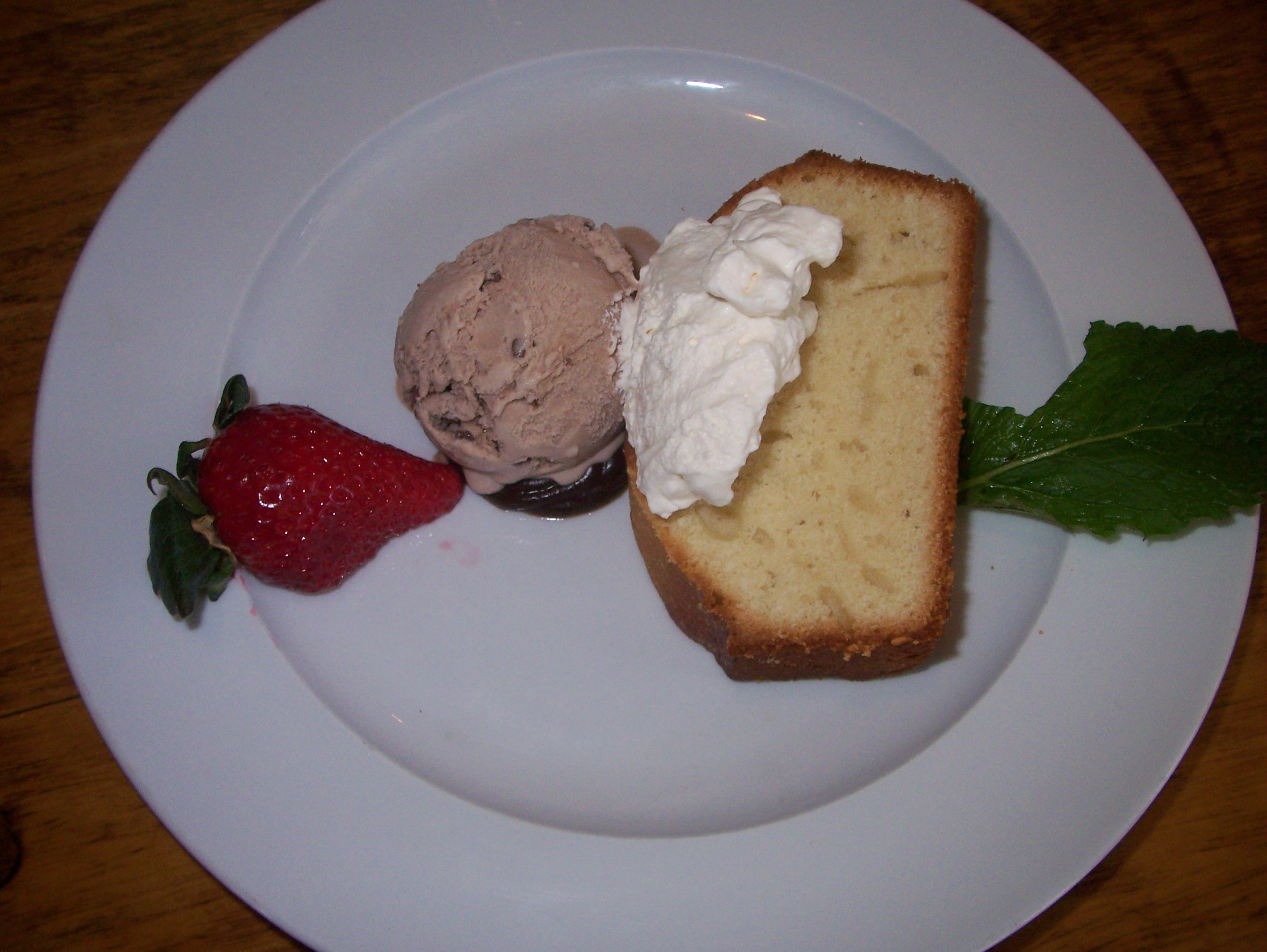 The Captain's Pound Cake & Mr. Shane's Chocolate Malt Ice Cream