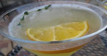 meyer lemon thyme gimlet