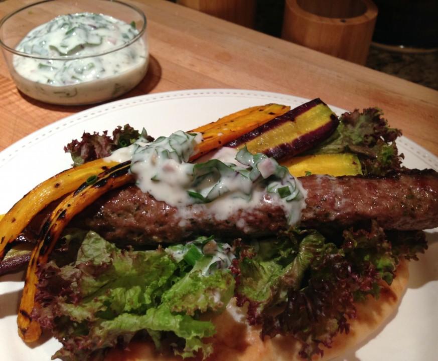 lamb kofta, carrot and sorrel sauce