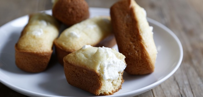 Hostess-style gluten-free twinkies, a recipe from the Gluten-Free Classic Snacks cookbook, are photographed April 17, 2015 in author Nicole Hunn's Eastchester home. This is Hunn's fourth gluten-free cookbook.