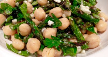 Grilled Asparagus, Chick Pea and Feta