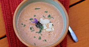 Chilled Cherry and Lavender Soup