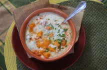 Tangerine and Chive Raita with Cucumbers