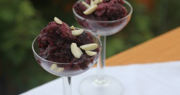 Blueberry and Lime Granita