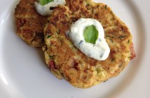Corn, Zucchini and Tomato Fritter by Seasonal Chef Maria Reina