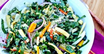 Warm Collard Green and Roasted Root Slaw