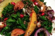 Seasonal Chef Maria Reina, Winter Squash, Lentil and Kale Salad