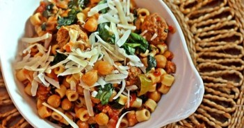 Sausage and Chickpeas with Pasta