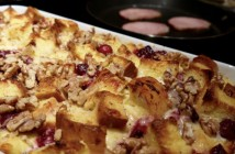 Make-ahead Cranberry Cheddar Strata,  by Seasonal Chef Maria Reina