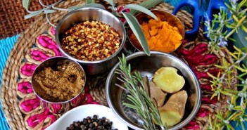 An assortment of winter spices