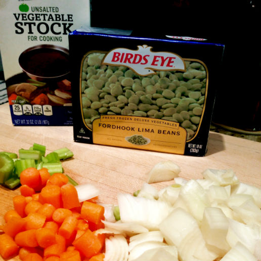 simple ingredients for Seasonal Chef's lima bean soup.