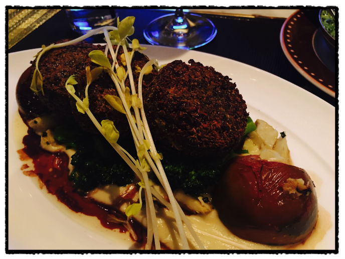 Quinoa Cakes with vegetables at the SW Steakhouse- easily part of the best meal I had in Las Vegas.