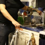 Rinsing the carboy