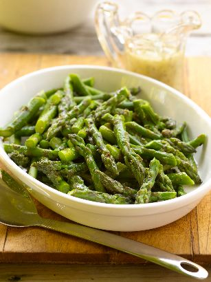 Chilled Asparagus with Mustard Herb Vinaigrette