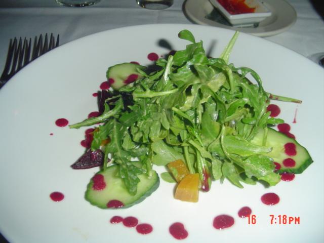 Beet and Avocado Arugula Salad with roasted beet vinaigrette
