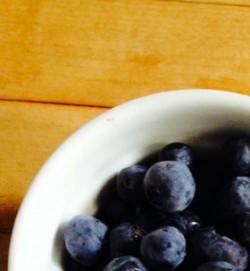 Blueberries in bowl
