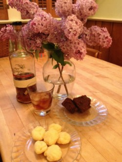 Cheese Puffs, Brownies, Rum--and Flowers!