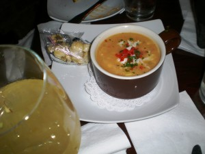 Roasted Pepper and Crab Chowder