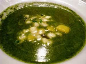 Crema di Spinaci con Gnocchetti e Zucca