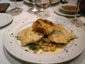 Pollo con Parmigiano e Olio Tartufato