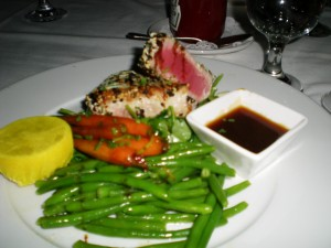 Seared Sashimi Tuna with a Honey Soy Dipping Sauce