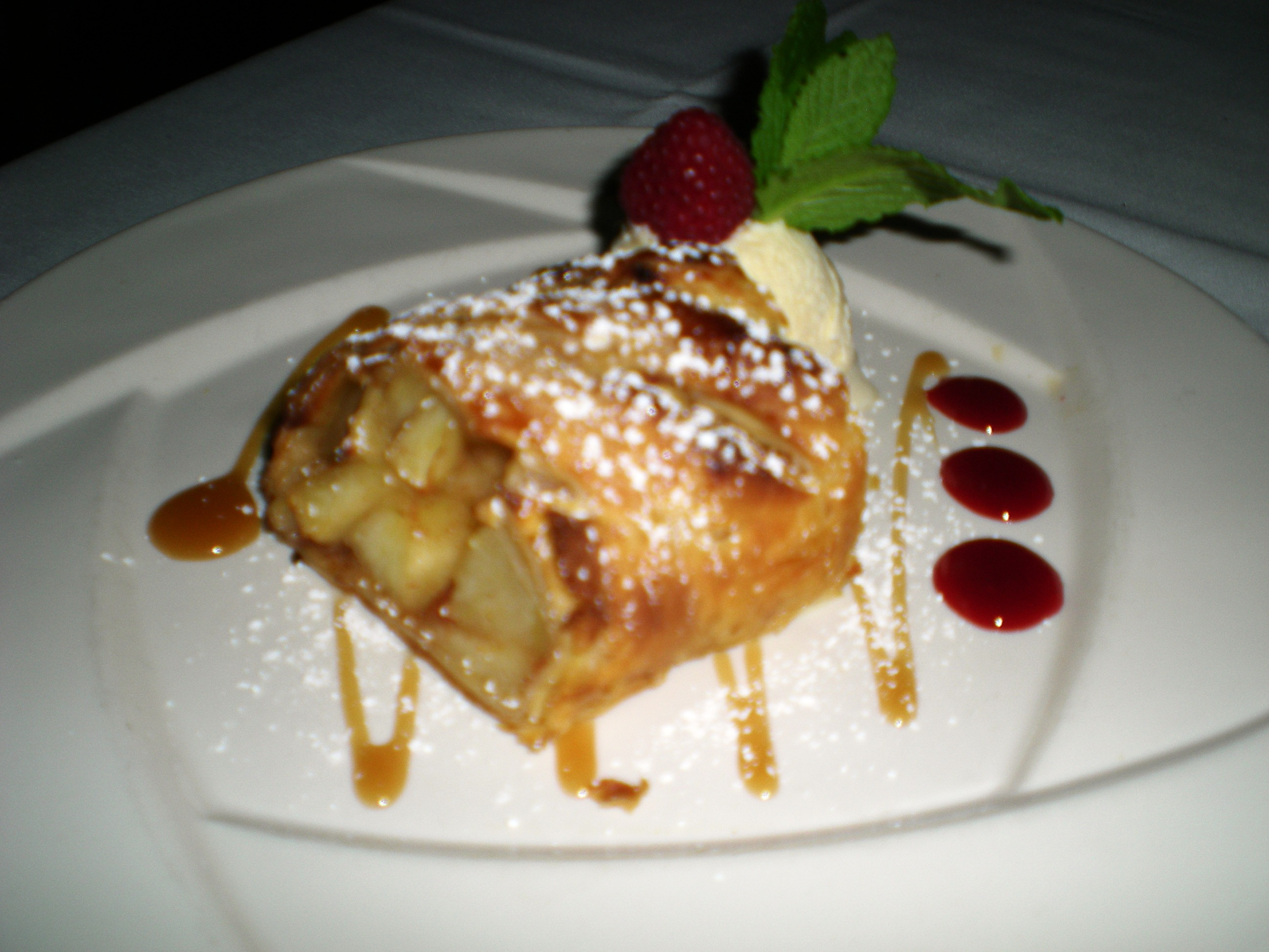 Apple Strudel with French Vanilla Ice Cream