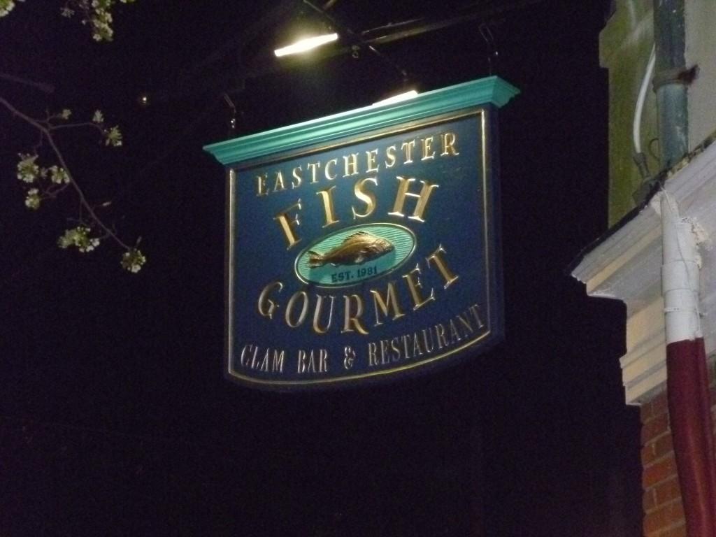 Eastchester Fish Gourmet Sign