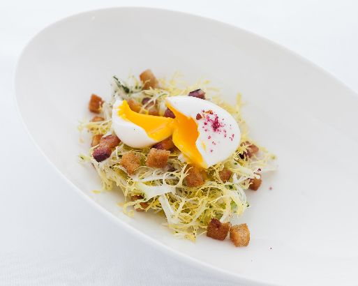 Frisée aux Lardons from The Bocuse Restaurant at The Culinary Institute of America