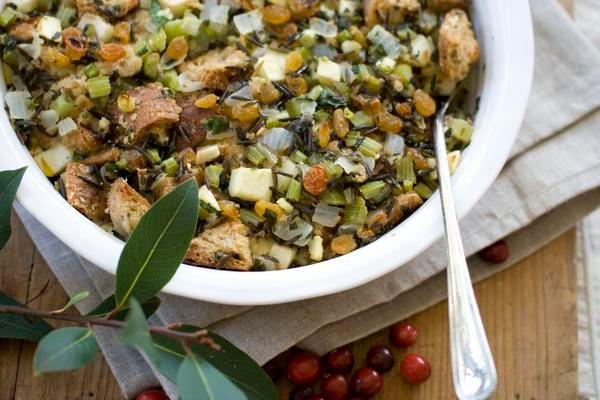 Multigrain and Wild Rice Stuffing with Apples and Herbs