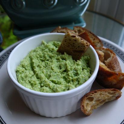 Garlic Scape and Edamame Hummus, Maria Reina