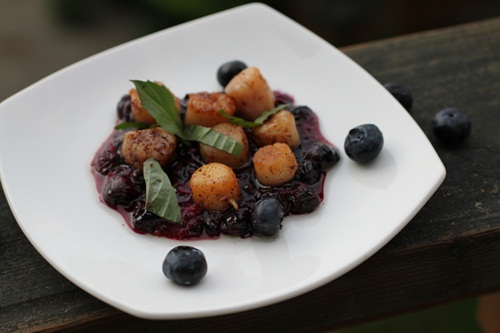 Ginger Blueberry Scallops1sm
