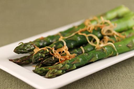 Gingered Asparagus & Leeks