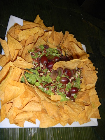 Guacamole with Grapes and Toasted Pecans