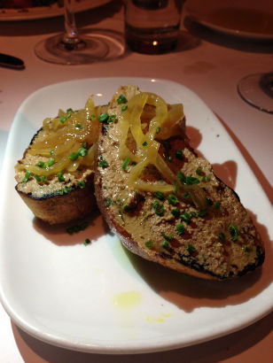 Chicken Liver Crostini, Meritage in Scarsdale