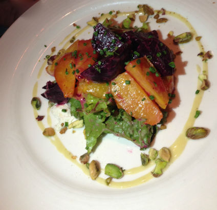 Roasted Beet Salad, Meritage in Scarsdale