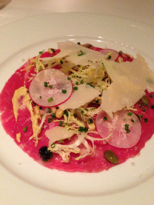 Beef Carpaccio, Meritage in Scarsdale