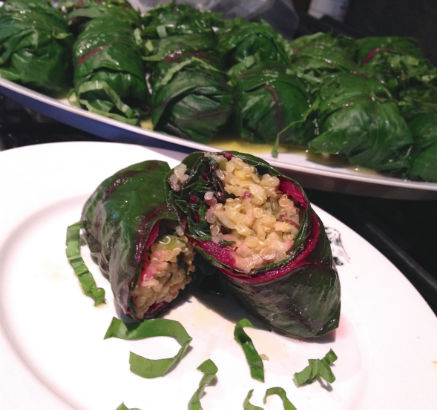 Swiss Chard Rolls with Quinoa