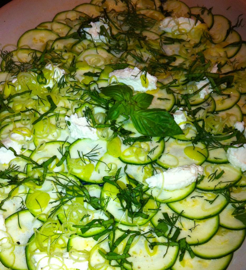 zucchini and ricotta salad