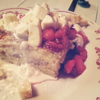 Wobble Strawberry shortcake french toast