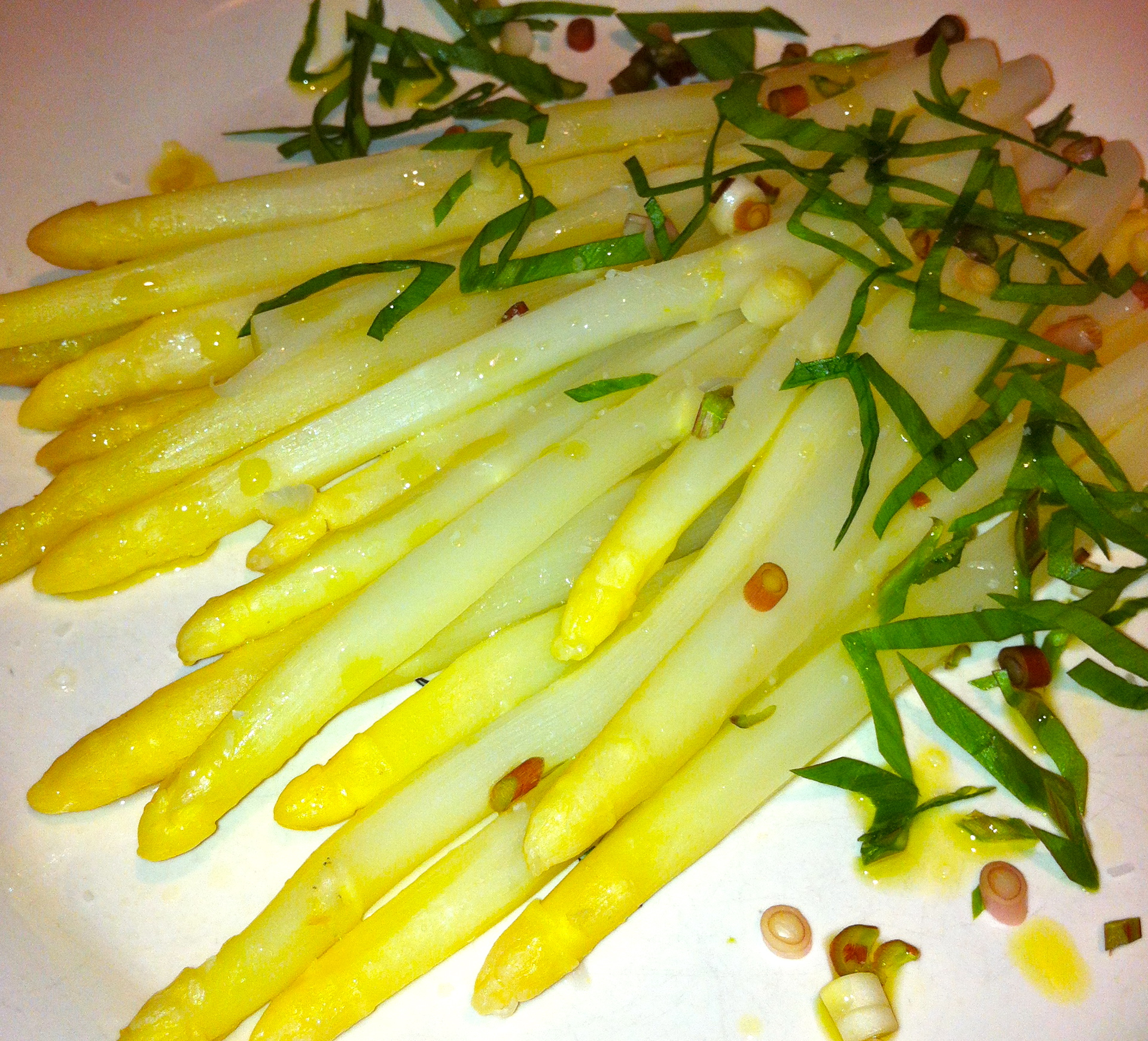 White Asparagus with Ramps