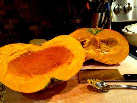 cinderella pumpkin, rouge vif d'etampes