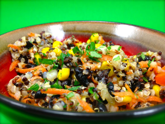 I Eat Plants: Black Bean and Quinoa Salad