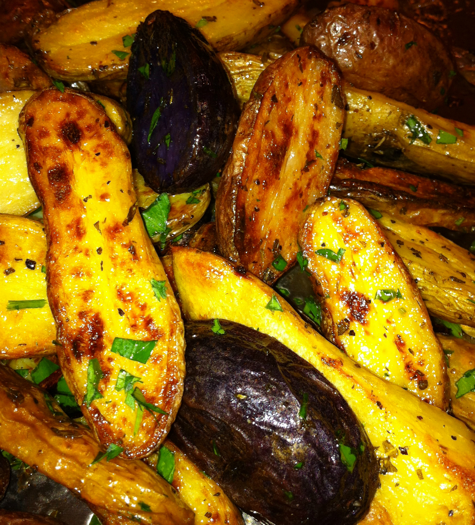 Roasted Fingerlings with Fresh Herbs