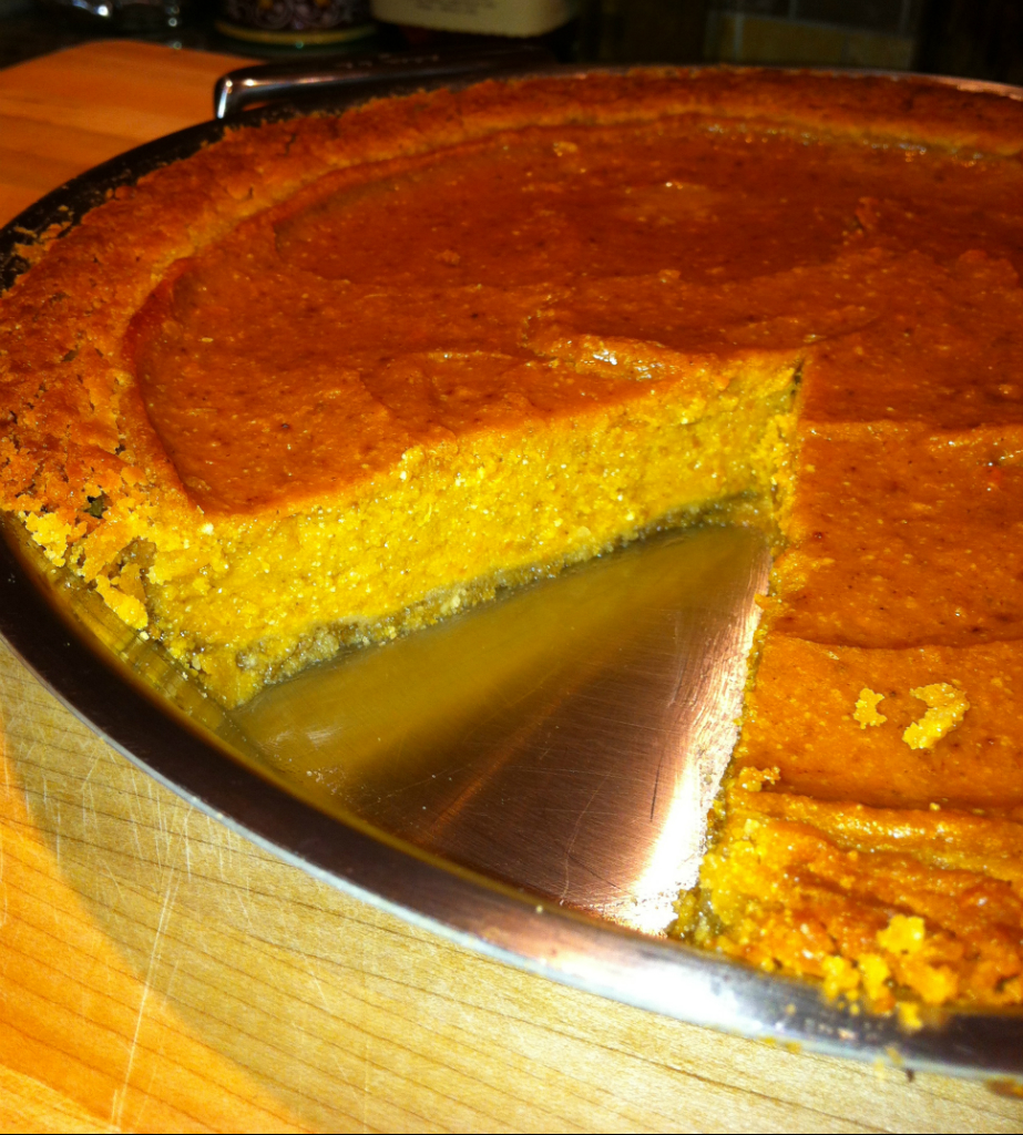 Spiced Sweet Potato Pie with Ginger Coconut Crust