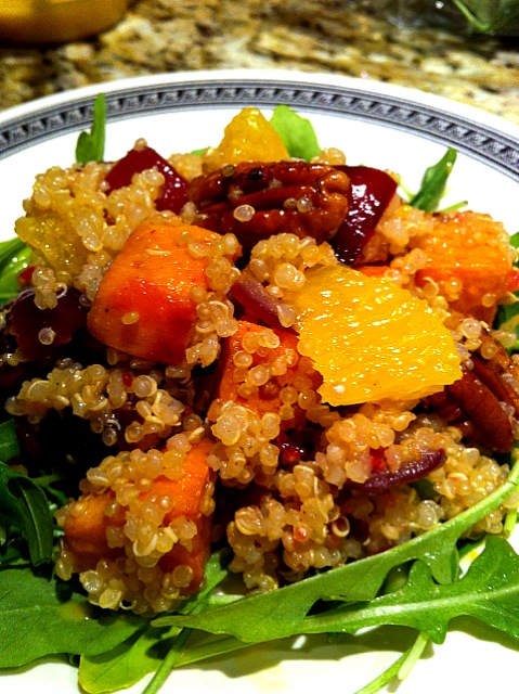 Quinoa, Sweet Potato and Pecan Salad
