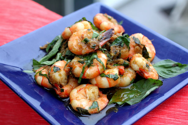 Thai Lemongrass, Basil and Ginger Shrimp