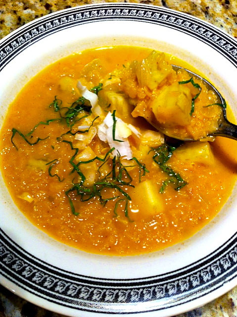 Thai Red Lentil and Yam Soup