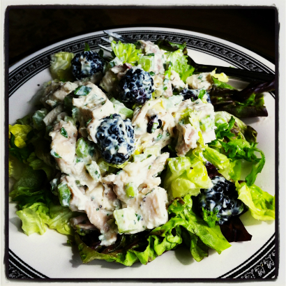 Chicken Salad with Tarragon, Chives and Blackberry by Seasonal Chef Maria Reina