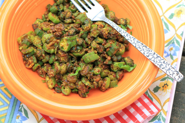 Dry Spice Rubbed Okra