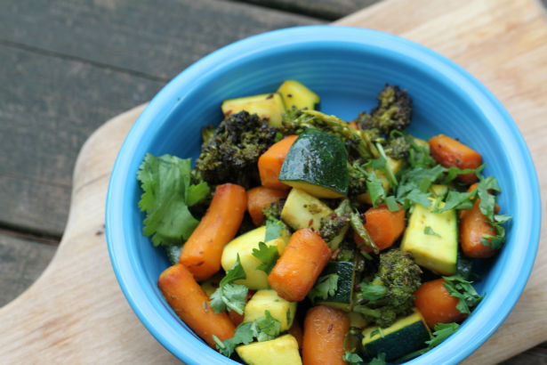 Turmeric and Panchphoron Roasted Vegetables